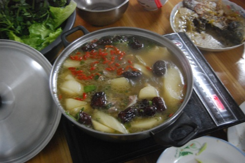 Lamb hot-pot with Auntie and Uncle!