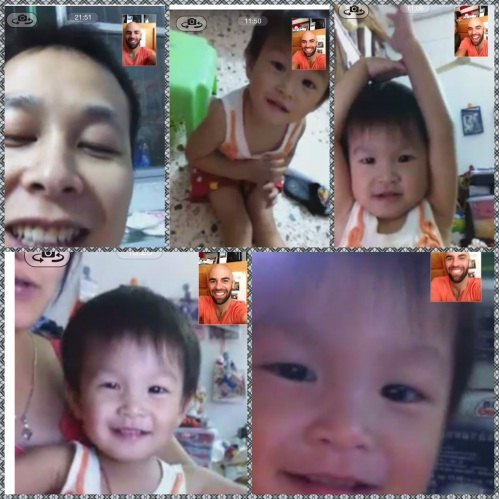 Facetime with my best bud, MeiMei!