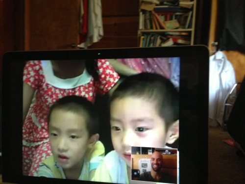 Skype hang-out with my buds PaiPai and YiYi!